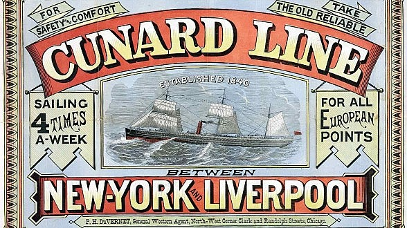 Cunard Line New York to Liverpool